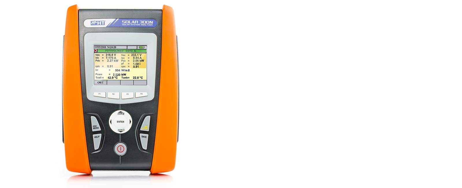Power Quality Analyzer for checking the efficiency of photovoltaic systems