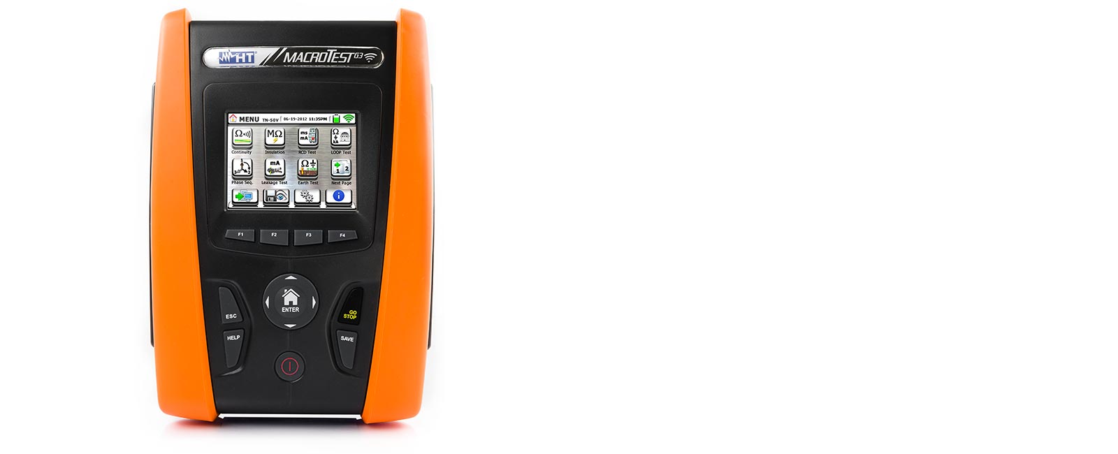 Multifunction installation tester with touch screen