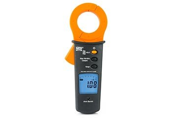 AC clamp meter for measuring leakage currents from 10µA to 100A