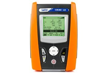 Multifunction installation tester for tests on domestic and industrial systems with single-phase power quality analysi