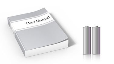Batteries and user manual