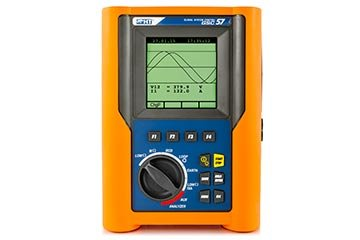 Multifunction tester for electric safety measurements and power quality analysis on single-phase and three-phase installations