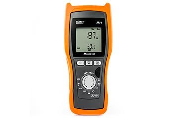 Installation tester safety tests according to CEI 64-8 with TRMS multimeter functions