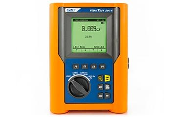 Multifunction Continuity Tester with 200mA and 10A test current and Line/Loop impedance