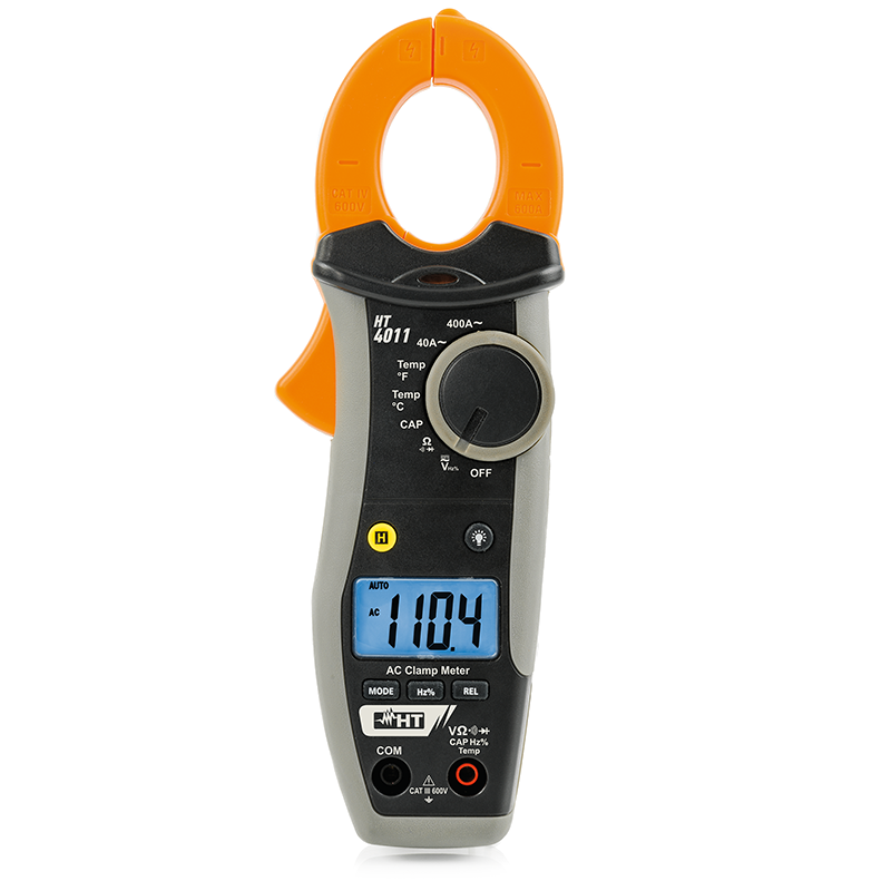 Clamp meter AC 400A with temperature measurement with K-type probe