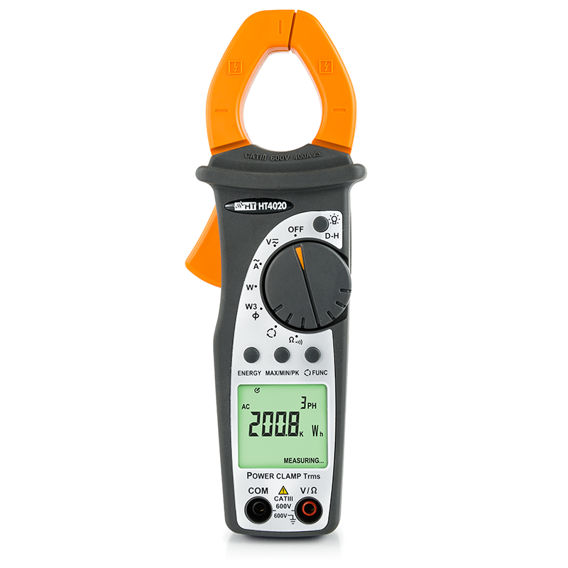 Professional clamp meter AC TRMS 400A with Power measurement